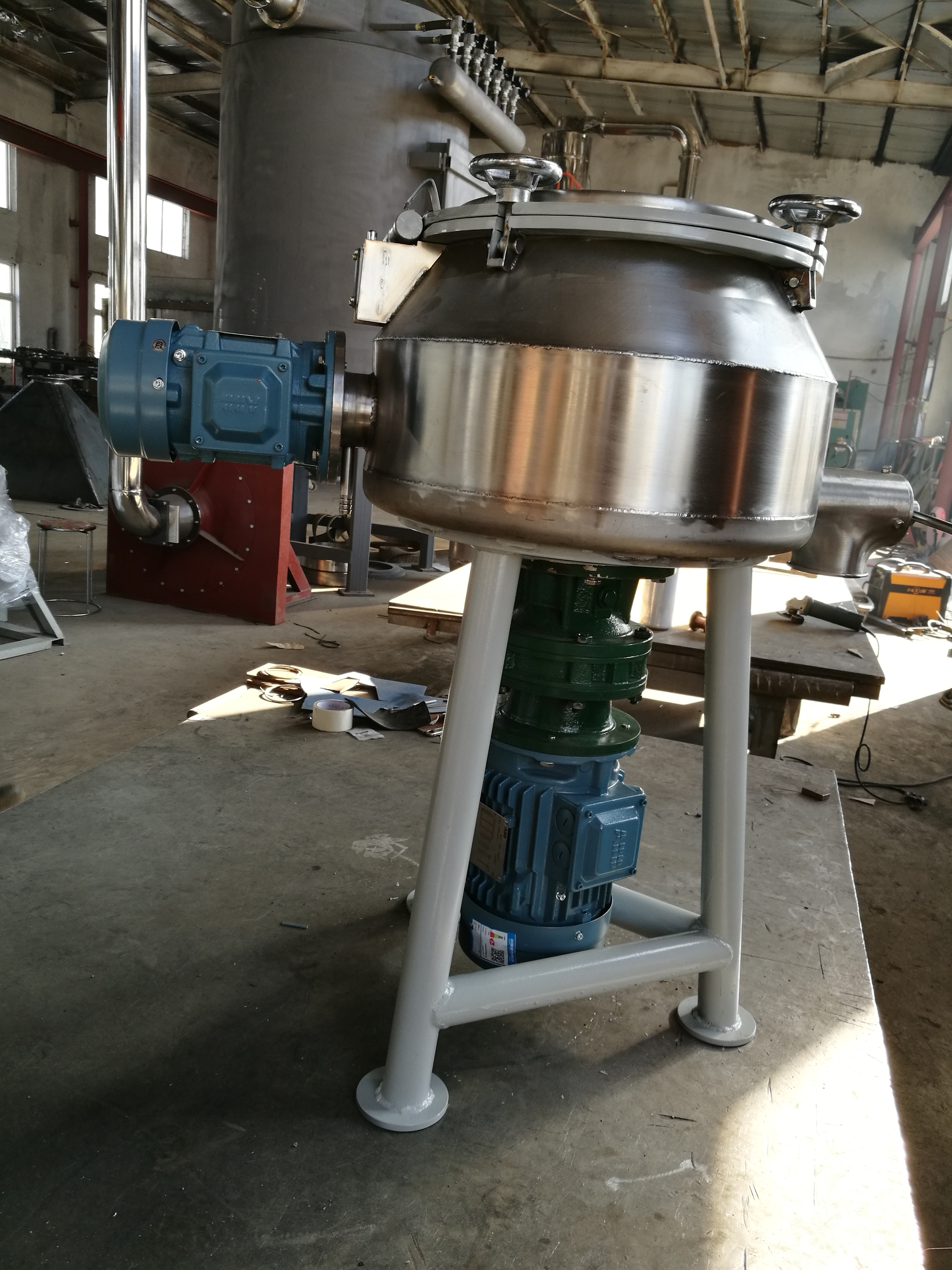 Vertical Powder Paint Powder Coating High Speed Mixer