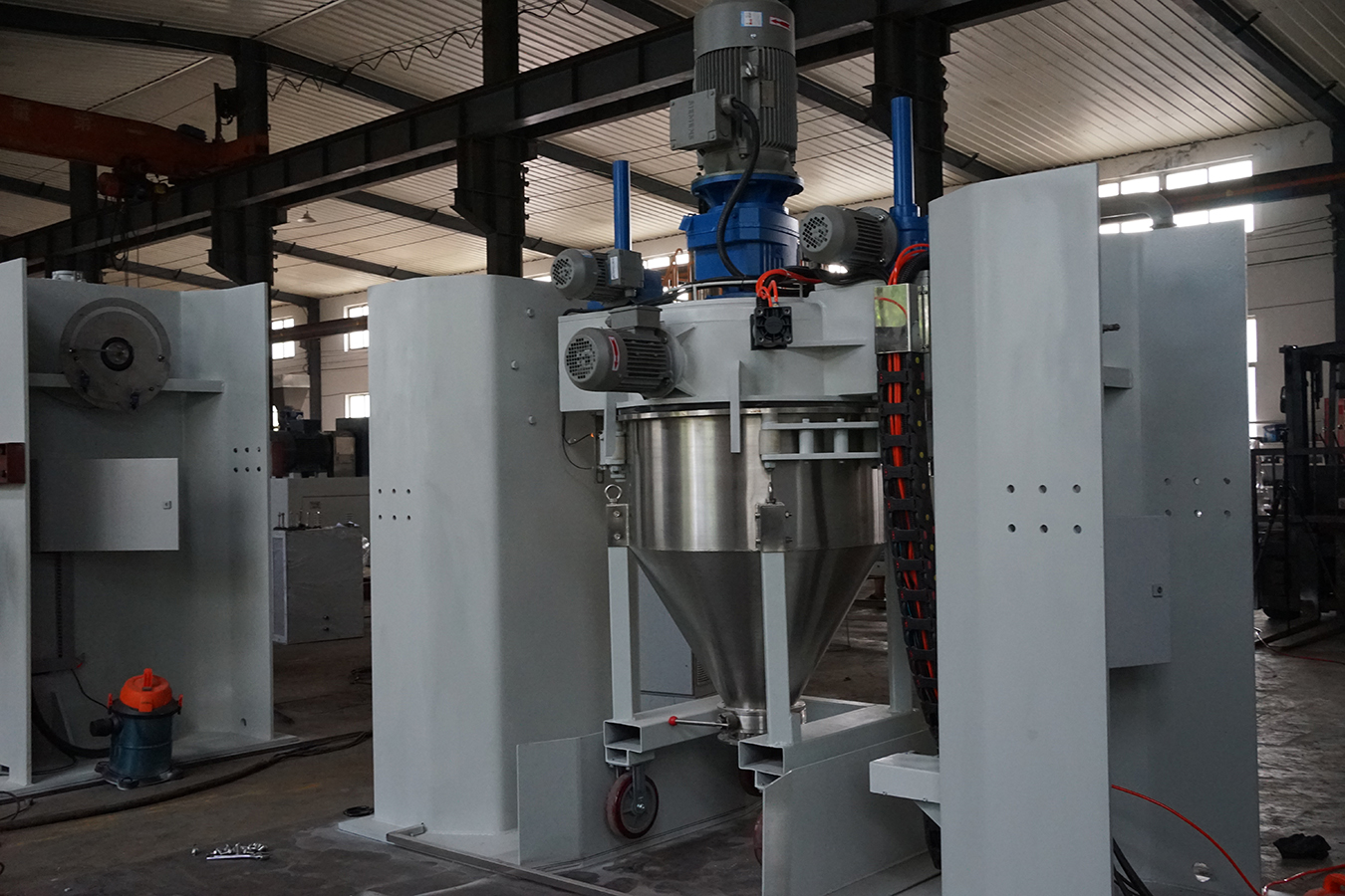 Vertical Continuous Electrostatic Powder Container Mixer